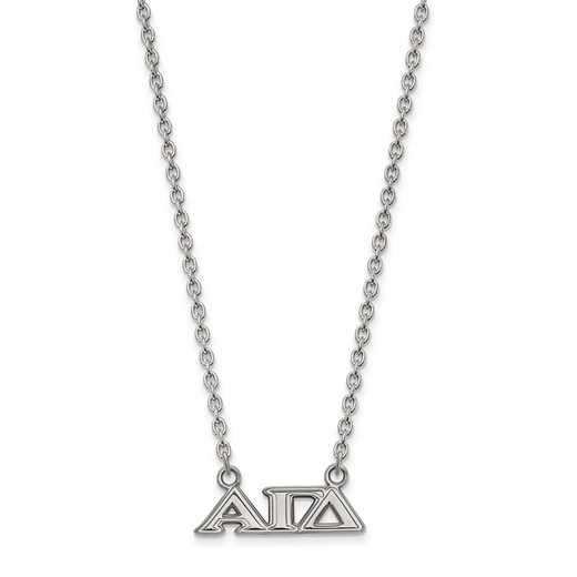 SS007AGD-18: SS LogoArt Alpha Gamma Delta Medium Pend w/Necklace
