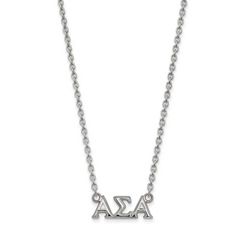 SS007ASI-18: SS LogoArt Alpha Sigma Alpha Medium Pend w/Necklace