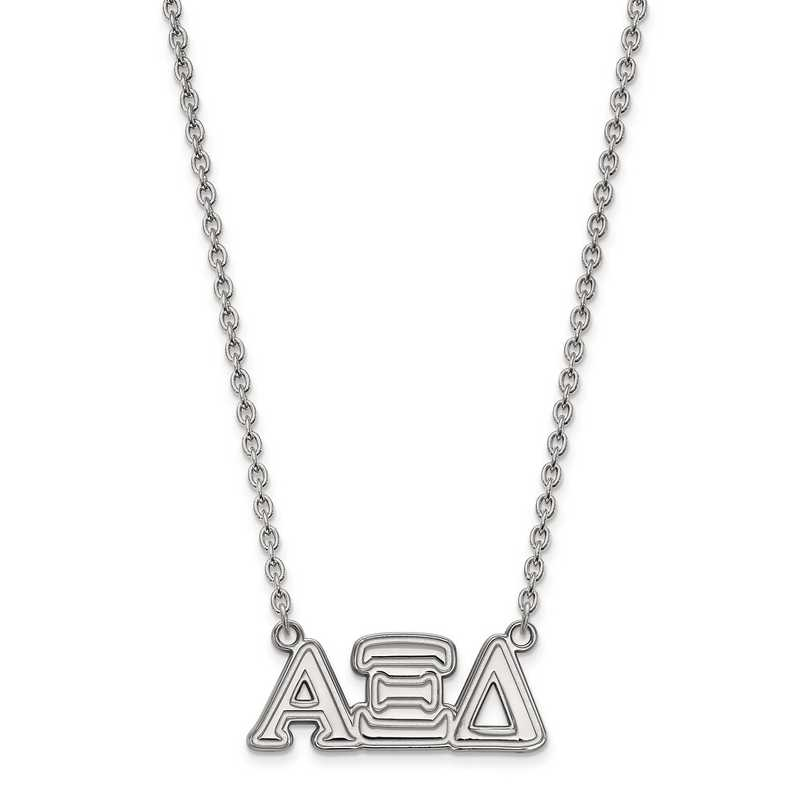SS007AXD-18: SS LogoArt Alpha Xi Delta Medium Pend w/Necklace
