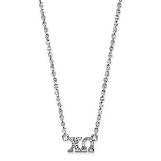 SS007CHO-18: SS LogoArt Chi Omega Medium Pend w/Necklace