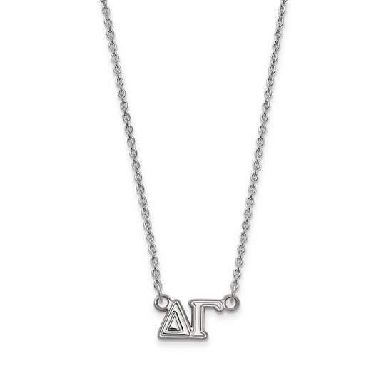 SS007DG-18: SS LogoArt Delta Gamma Medium Pend w/Necklace