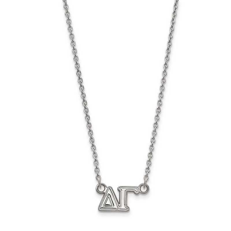SS007DG-18: SS LogoArt Delta Gamma Medium Pend w/Necklace