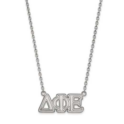 SS007DPH-18: SS LogoArt Delta Phi Epsilon Medium Pend w/Necklace