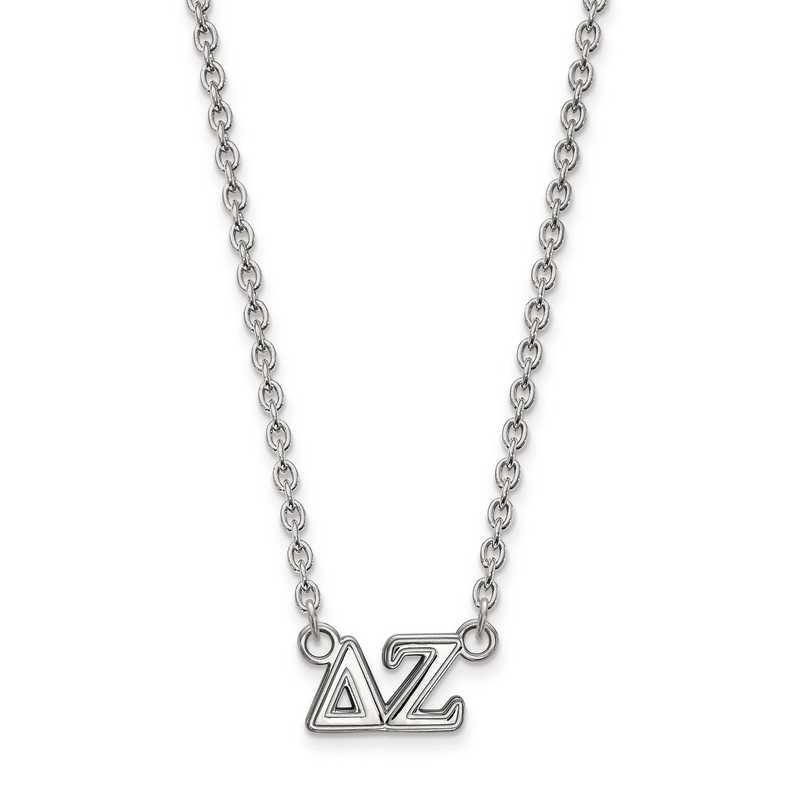 SS007DZ-18: SS LogoArt Delta Zeta Medium Pend w/Necklace