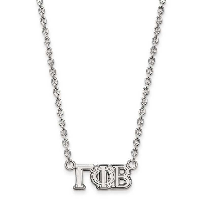 SS007GPB-18: SS LogoArt Gamma Phi Beta Small Pend w/Necklace