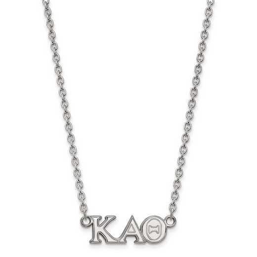 SS007KAT-18: SS LogoArt Kappa Alpha Theta Medium Pend w/Necklace