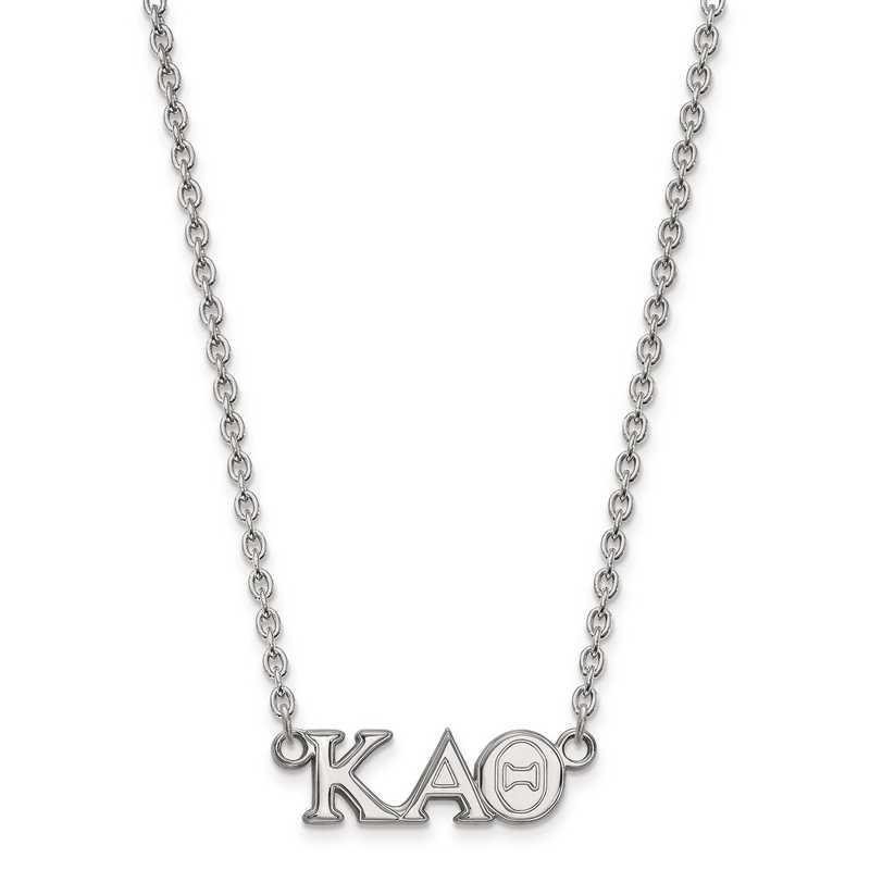 SS007KAT-18: SS LogoArt Kappa Alpha Theta Medium Pend w/Necklace