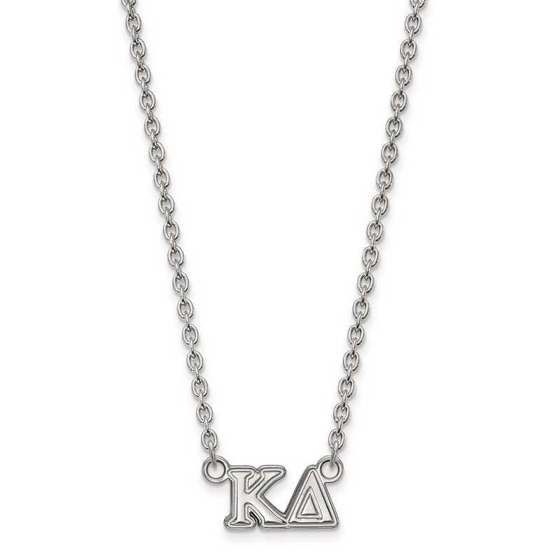 SS007KD-18: SS LogoArt Kappa Delta Medium Pend w/Necklace