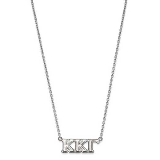 SS007KKG-18: SS LogoArt Kappa Kappa Gamma Medium Pend w/Necklace