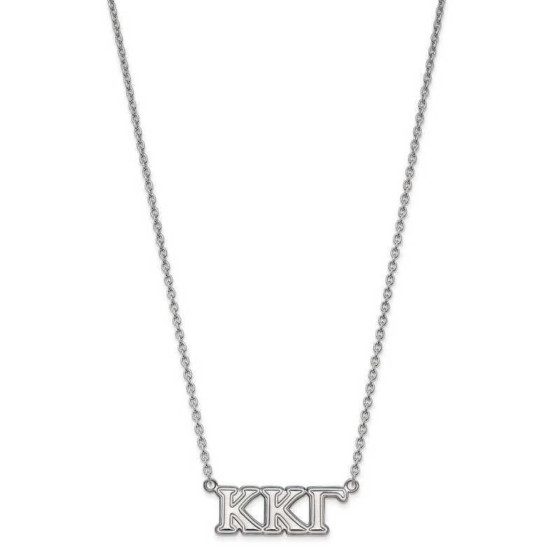 SS007KKG-18: SS LogoArt Kappa Kappa Gamma Medium Pend w/Necklace