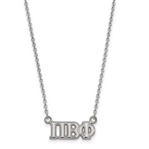 SS007PBP-18: SS LogoArt Pi Beta Phi Medium Pend w/Necklace