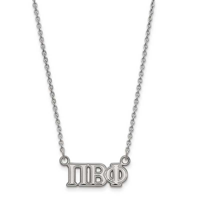 SS007PBP-18: SS LogoArt Pi Beta Phi Medium Pend w/Necklace