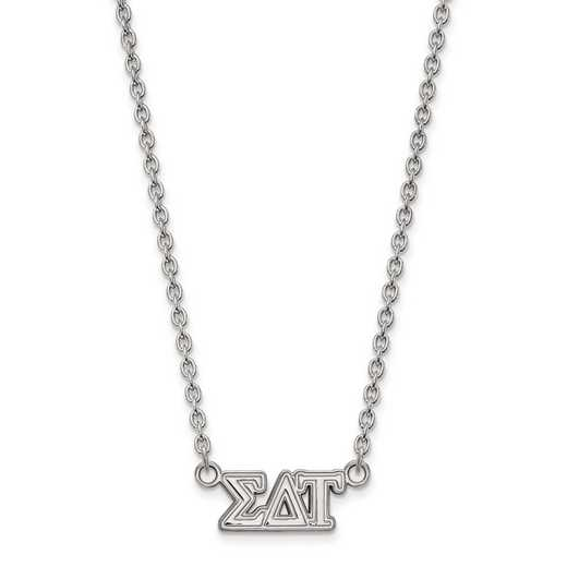SS007SDT-18: SS LogoArt Sigma Delta Tau Medium Pend w/Necklace
