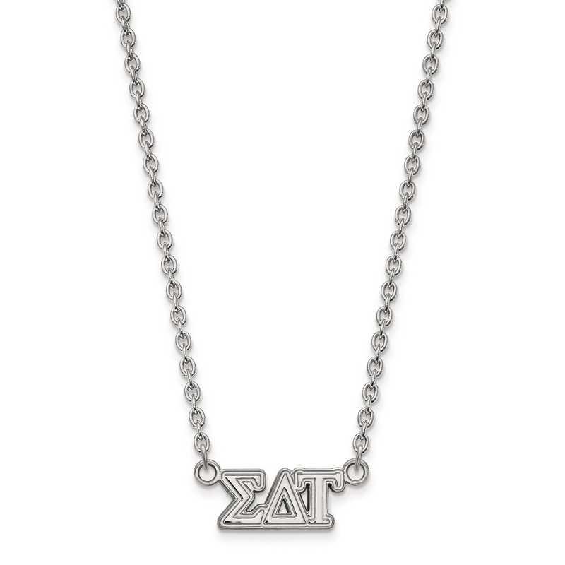 SS007SDT-18: SS LogoArt Sigma Delta Tau Medium Pend w/Necklace