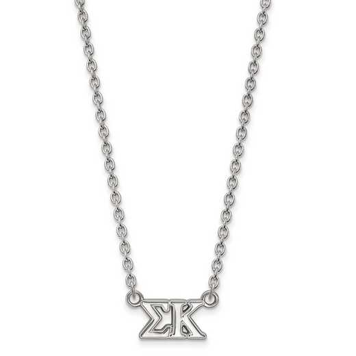 SS007SKP-18: SS LogoArt Sigma Kappa Medium Pend w/Necklace
