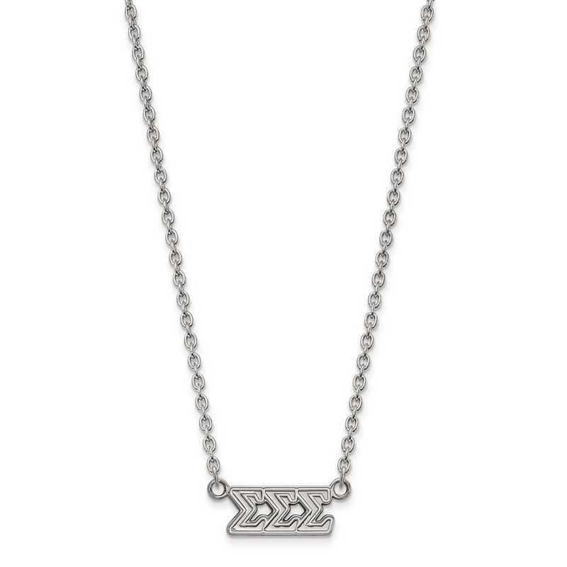 SS007SSS-18: SS LogoArt Sigma Sigma Sigma Medium Pend w/Necklace