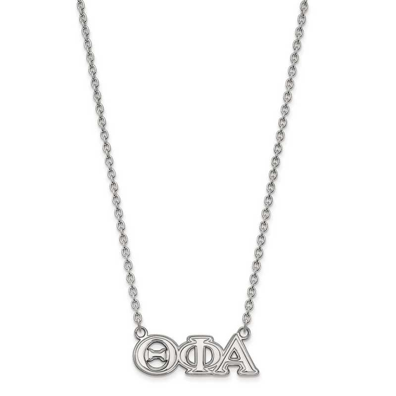 SS007TPA-18: SS LogoArt Theta Phi Alpha Medium Pend w/Necklace
