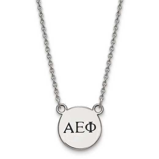 SS016AEP-18: SS LogoArt Alpha Epsilon Phi XS Enl Pend w/Necklace