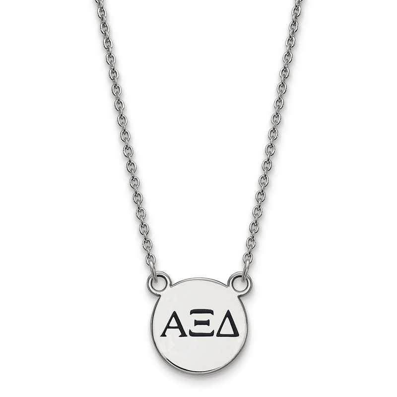 SS016AXD-18: SS LogoArt Alpha Xi Delta Sm Enl Pend w/Necklace