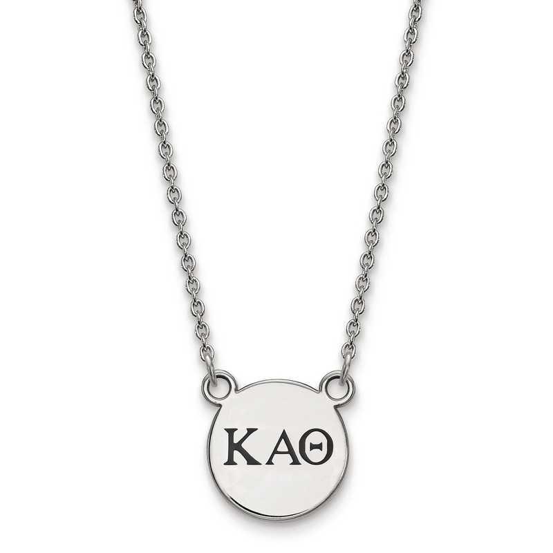 SS016KAT-18: SS LogoArt Kappa Alpha Theta Sm Enl Pend w/Necklace
