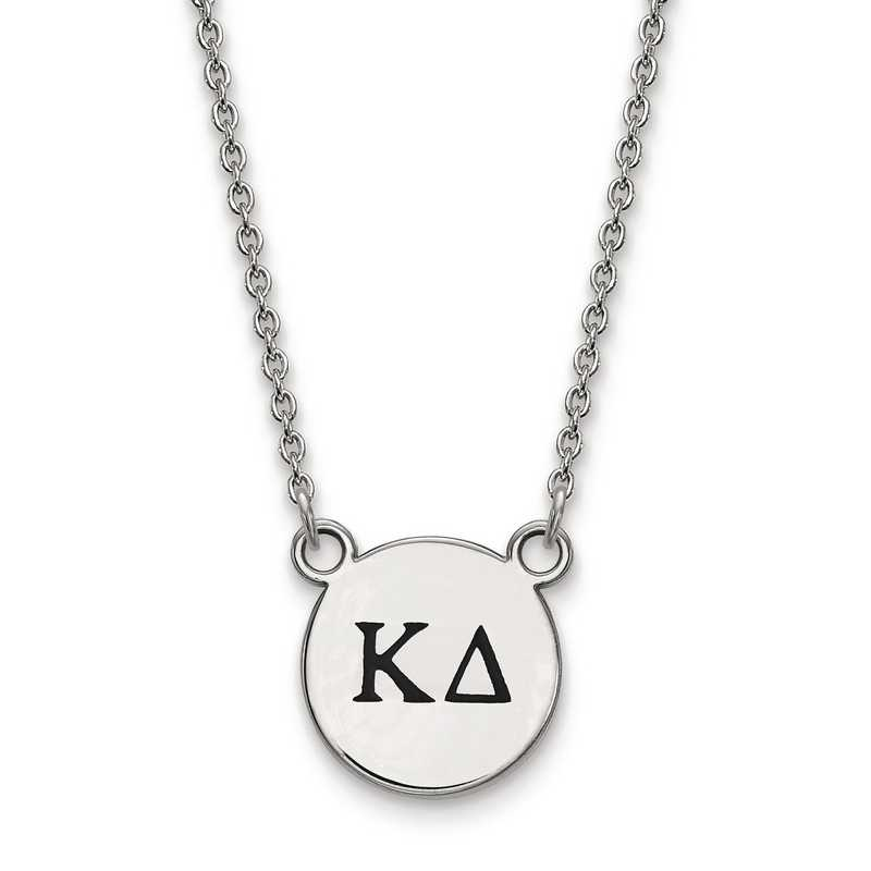 SS016KD-18: SS LogoArt Kappa Delta Sm Enl Pend w/Necklace