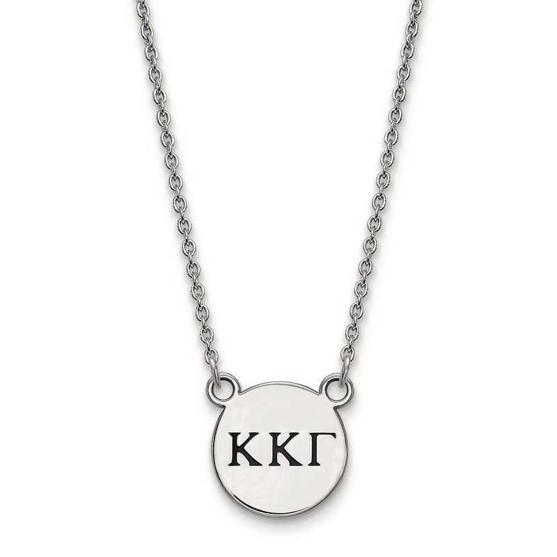 Greek Sororities Sterling Silver LogoArt Kappa Kappa Gamma Large Enl Pend with Necklace Size One Size