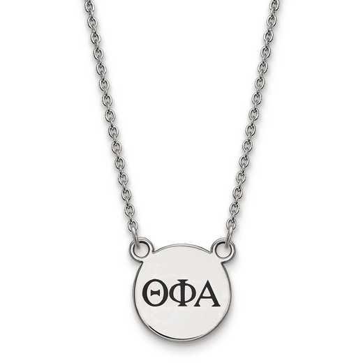 SS016TPA-18: SS LogoArt Theta Phi Alpha Sm Enl Pend w/Necklace