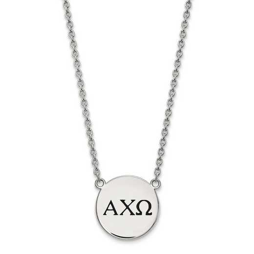 SS017ACO-18: SS LogoArt Alpha Chi Omega Large Enl Pend w/Necklace