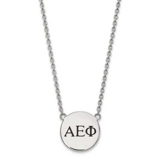 SS017AEP-18: SS LogoArt Alpha Epsilon Phi Small Enl Pend w/Necklace