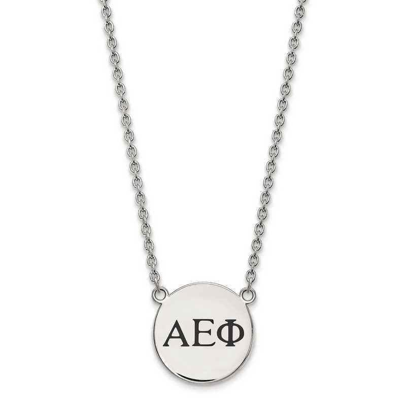 SS017AEP-18: SS LogoArt Alpha Epsilon Phi Small Enl Pend w/Necklace