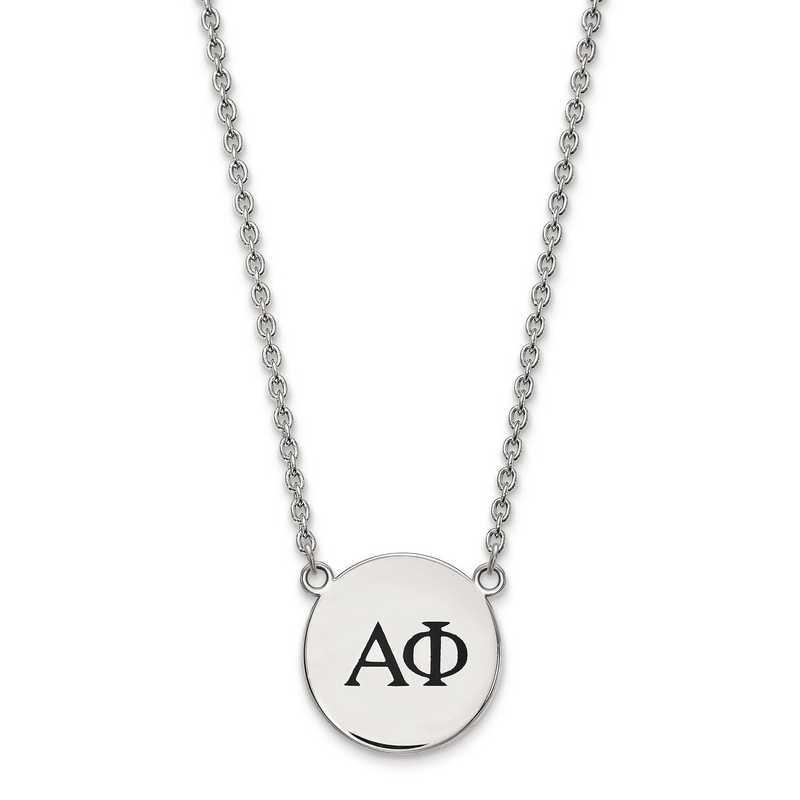 SS017APH-18: SS LogoArt Alpha Phi Large Enl Pend w/Necklace