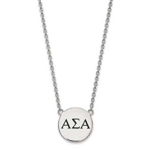 SS017ASI-18: SS LogoArt Alpha Sigma Alpha Large Enl Pend w/Necklace