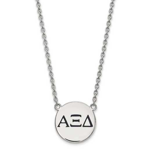 SS017AXD-18: SS LogoArt Alpha Xi Delta Large Enl Pend w/Necklace