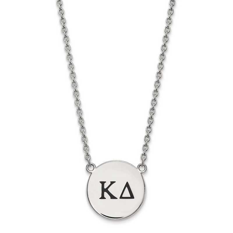 SS017KD-18: SS LogoArt Kappa Delta Large Enl Pend w/Necklace