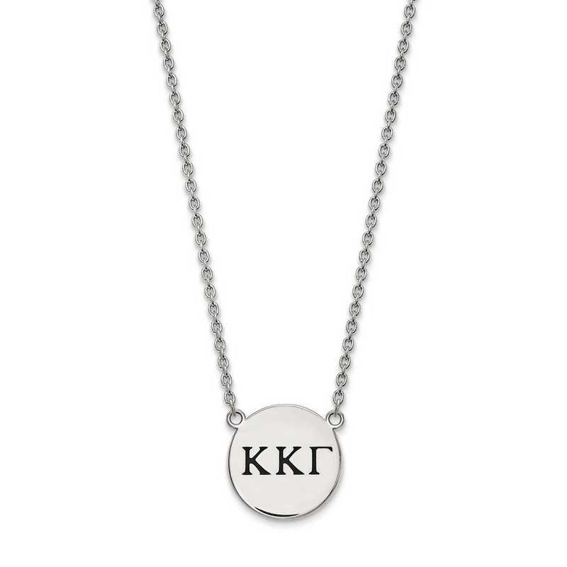 SS017KKG-18: SS LogoArt Kappa Kappa Gamma Large Enl Pend w/Necklace