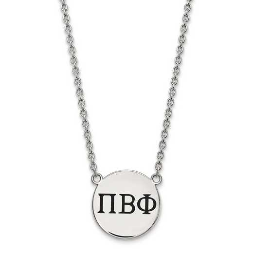SS017PBP-18: SS LogoArt Pi Beta Phi Large Enl Pend w/Necklace