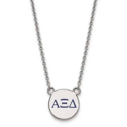 SS027AXD-18: SS LogoArt Alpha Xi Delta XS Enl Pend w/Necklace