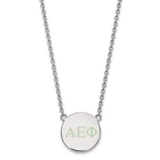 SS028AEP-18: SS LogoArt Alpha Epsilon Phi Small Enl Pend w/Necklace