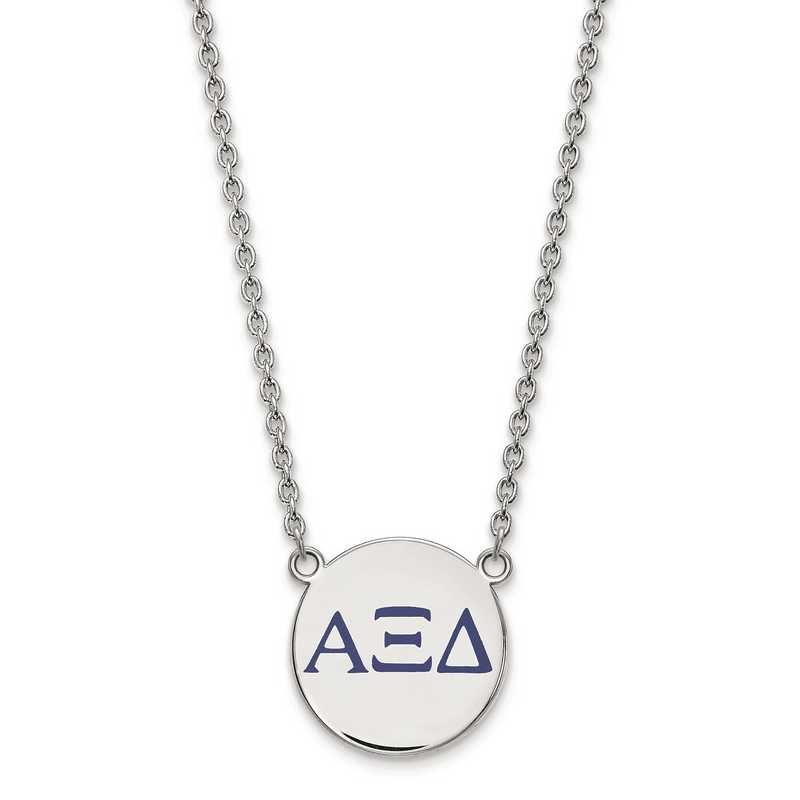 SS028AXD-18: SS LogoArt Alpha Xi Delta Large Enl Pend w/Necklace