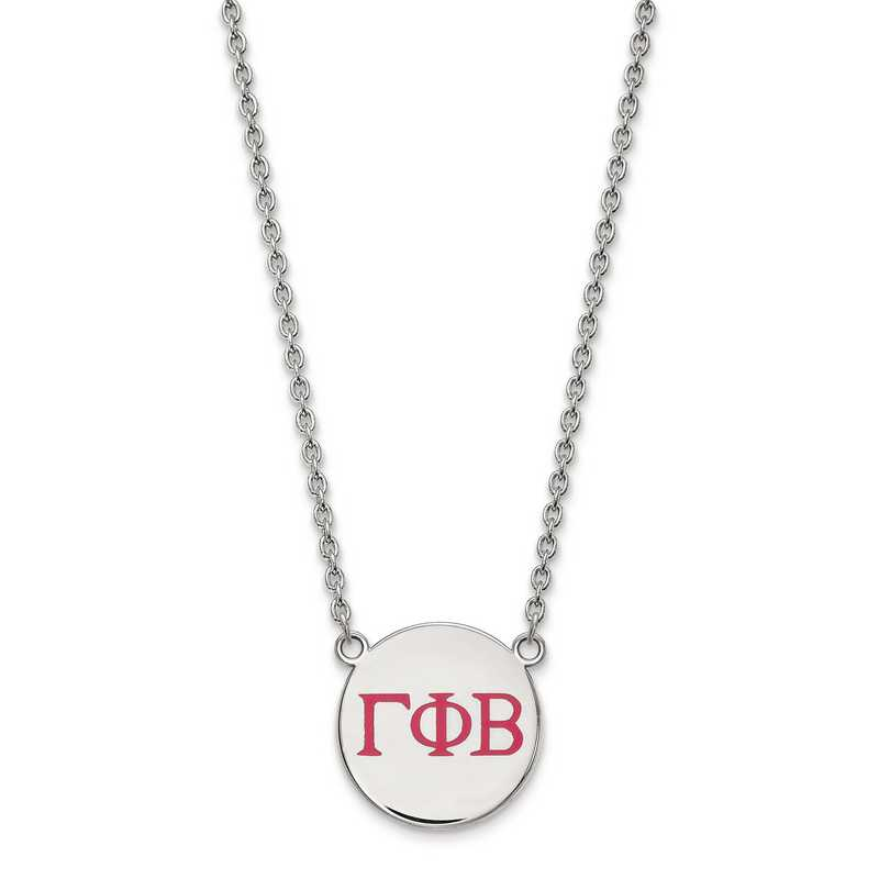Greek Sororities Sterling Silver LogoArt Phi Sigma Sigma Large Enl Pend with Necklace Size One Size