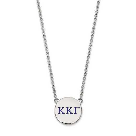 SS028KKG-18: SS LogoArt Kappa Kappa Gamma Large Enl Pend w/Necklace