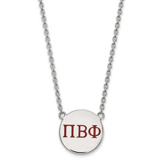 SS028PBP-18: SS LogoArt Pi Beta Phi Large Enl Pend w/Necklace
