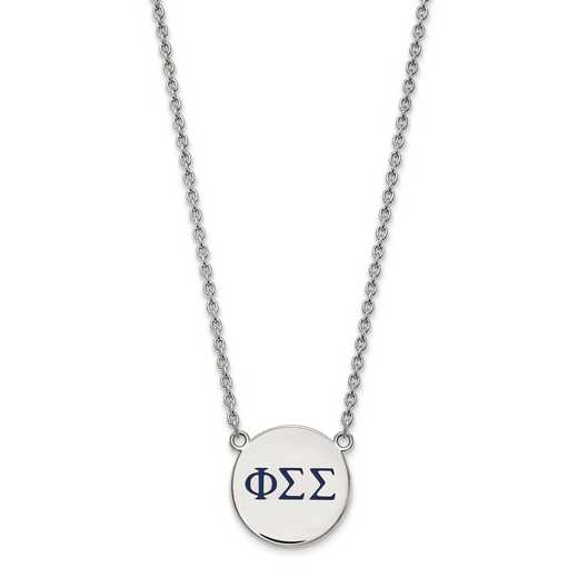 SS028PSS-18: SS LogoArt Phi Sigma Sigma Large Enl Pend w/Necklace