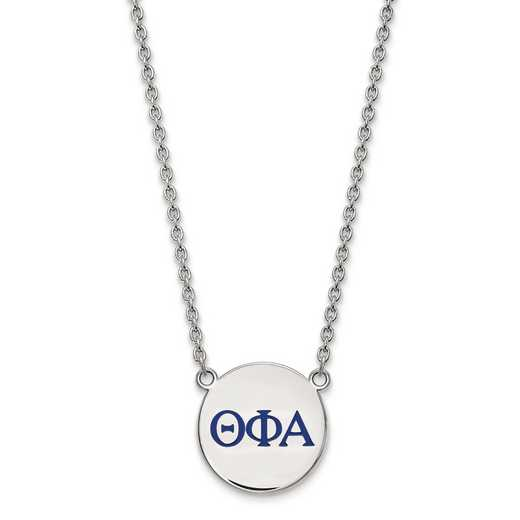 SS028TPA-18: SS LogoArt Theta Phi Alpha Large Enl Pend w/Necklace
