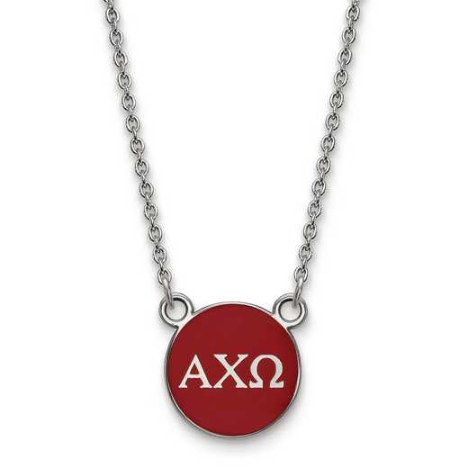 SS029ACO-18: SS LogoArt Alpha Chi Omega Small Enl Pend w/Necklace