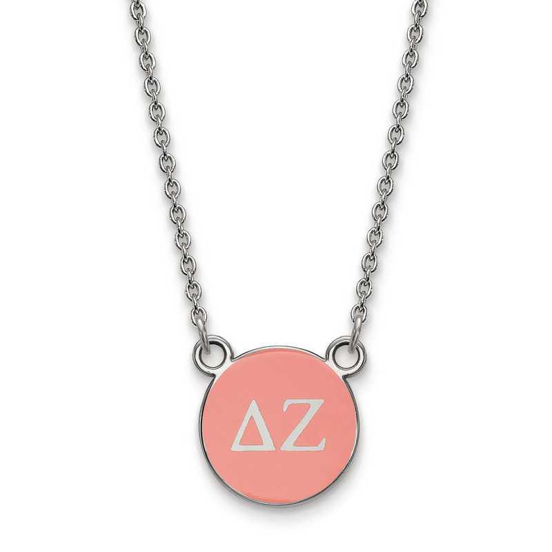 SS029DZ-18: SS LogoArt Delta Zeta Sm Enl Pend w/Necklace