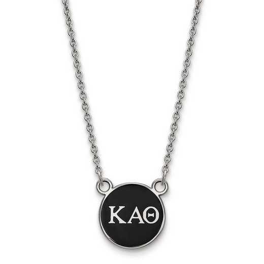SS029KAT-18: SS LogoArt Kappa Alpha Theta Sm Enl Pend w/Necklace