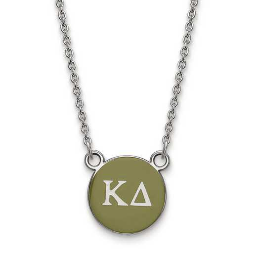 SS029KD-18: SS LogoArt Kappa Delta Sm Enl Pend w/Necklace
