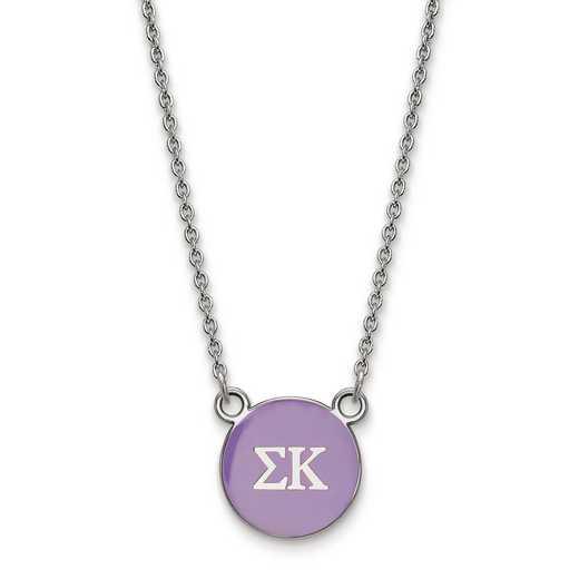 SS029SKP-18: SS LogoArt Sigma Kappa Sm Enl Pend w/Necklace