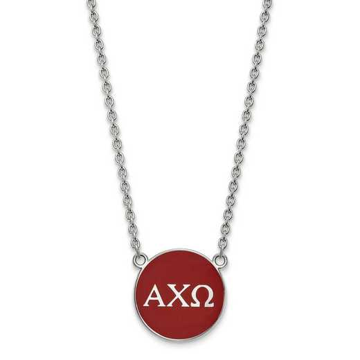 SS030ACO-18: SS LogoArt Alpha Chi Omega Large Enl Pend w/Necklace
